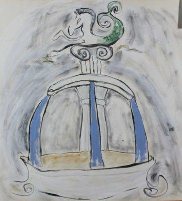 Toes Dalmulder - zonder titel - 70 x 68 cm - Gouache op papier