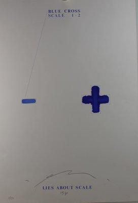 Pieter Engels - Lies about Scale - 98 x 61 cm - Zeefdruk op papier