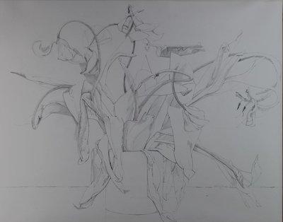 Rob Glaser - zonder titel - 45 x 56 cm - Potlood op papier