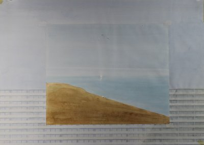 Rob Glaser - zonder titel - 56 x 75 cm - Aquarel op papier