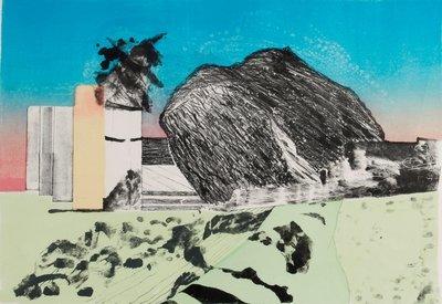 Gé van Kesteren - Drijver - 51 x 74 cm - 6-Kleuren steendruk op papier