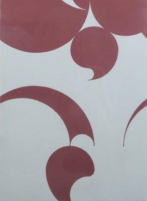Leo Vroegindeweij - zonder titel - 93 x 73 cm - Zeefdruk op papier - in houten lijst