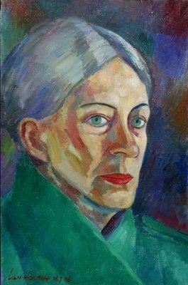 Jan van Holthe - Marja - 41 x 27,5 cm - olieverf op doek