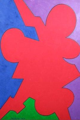 Jan van Holthe - Zonder titel - 130 x 89 cm - olieverf op doek