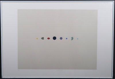 Peter Jordaan - zonder titel - 64 x 91,5 cm - Zeefdruk op papier - in aluminium lijst