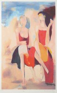 Hans van den Berg - Paris - zeefdruk - 96 x 65 cm - ingelijst
