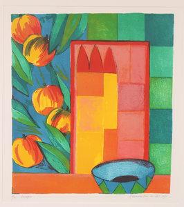 Fenneke van der Elst - Crispin - 66 x 61 cm - zeefdruk op papier - ingelijst