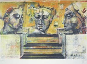 Astrid Engels - Towards Balance - 64 x 83 cm - Litho op papier