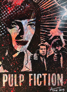 Alvin Silvrants - Pulp Fiction - 70 x 50 cm - Acryl op doek