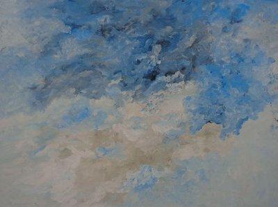 Armando - Abstractie in blauw en wit