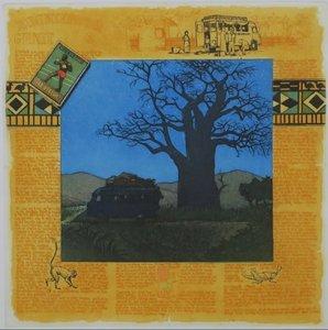 Rolf Weijburg - De ontdekking van Guinee II - kleurenets op papier - 54 x 45 cm