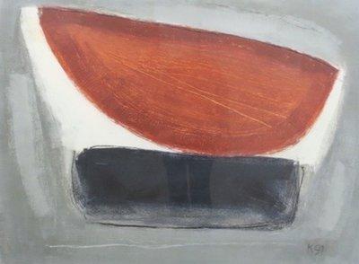 Aafke Kelly - Tomb for two wings 3 - 101,5 x 81,5 cm - Olieverf op papier