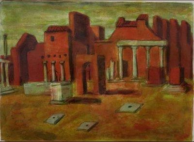 Jeroen Hermkens - Pompei II  - 75 x 93 cm - litho op papier