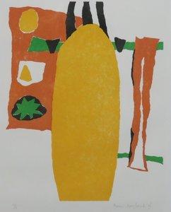 Francis Hoogland - zonder titel - 68 x 53 cm - Linosnede op papier