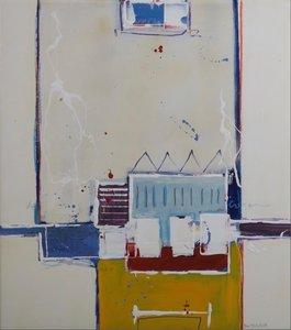 Ron van der Werf - Monotype - zonder titel III - 74 x 66 cm - monotype op papier en doek - ingelijst