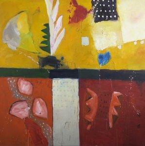 Alexander Vogels - African nights - 130 x 130 cm - olie op doek