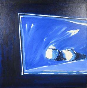 Norbert Dijkman - Stilleven III - 103 x 103 cm - olieverf op doek - ingelijst