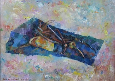 Jan van Holthe - Choses Simples - 35 x 48 cm - olieverf op doek - ingelijst