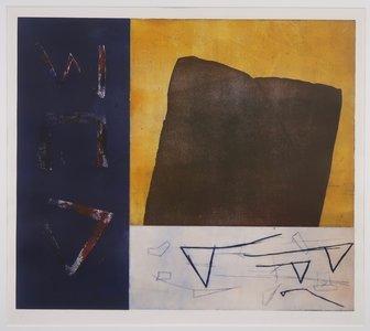 Jose van Tubergen - Zonder titel - 101,5 x 91,5 cm - ets op papier - aluminium ingelijst