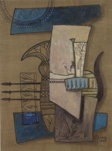 Valentin Bakardjiev - ZT V - 103 x 83 cm - Gouache op papier - ingelijst