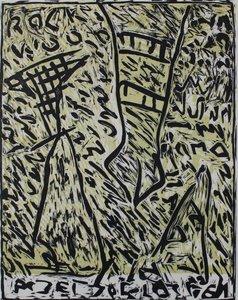 Peter Capiteijns - Rock on Wood serie 4 - 72 x 52 cm - Lithografie op papier