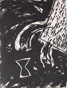 Peter Capiteijns - Rock on Wood serie 3 - 72 x 52 cm - Lithografie op papier