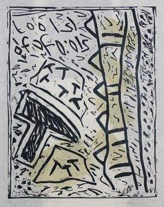 Peter Capiteijns - Rock on Wood serie - 72 x 52 cm - Lithografie op zwaar papier/karton