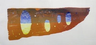 Joris Geurts - zonder titel III - 47 x 87 cm - Houtsnede op papier - in houten lijst