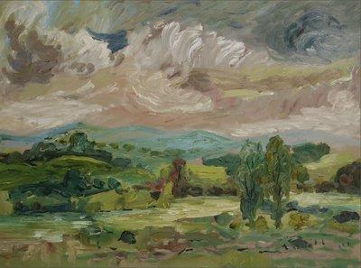 Henk Heideveld - Iers landschap III - 63 x 82,5 cm - olieverf op paneel - ingelijst