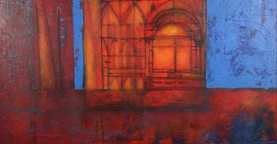 Carolina Paulussen - 80 x 150 - acryl op doek - op spieraam met ophangsysteem
