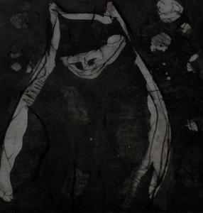 Henri Titselaar - Kat - 32,5 x 24 cm - ets/droge naald op papier