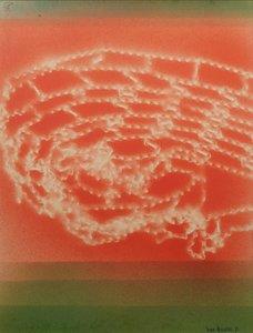 Jan van Holthe - Filet Cosmique - 66,5 x 61,5 cm - gemengde techniek op papier - ingelijst
