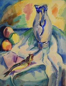 Freek van den Berg - Stilleven II - 73,5 x 55,5 cm - Aquarel