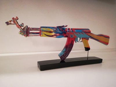 Ray Coster - AK47 - Art against War - 25 x 15 cm