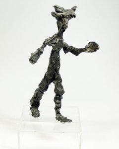 Jan Sierhuis - Peternera - Brons op plexiglas sokkel - 40 x 24 x 18 cm
