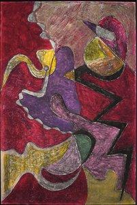 Andries Heyboer - III - 120 x 79,5 - wasco (vetkrijt) op karton