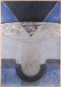 Edith Sont - zonder titel - 110 x 80 cm - Gemengde techniek op papier - in houten lijst