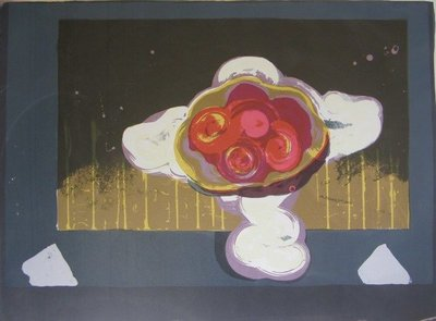 Darja Vos - Coupe de fruit dans la Nuit - 70 x 100 cm - Zeefdruk op papier