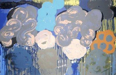 Darja Vos - Nubes Flotantes - 70 x 100 cm - Zeefdruk op papier