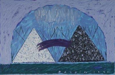Ahmed Baldin - zonder titel - 56 x 86 cm - Gouache op papier