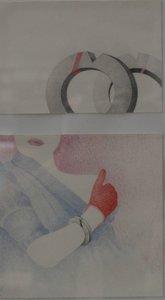 Hugo Clemens van den Broeck - Armvorm - 24 x 32 cm - kleurpotlood en collage op papier