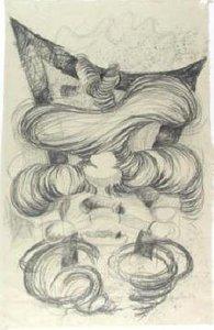 Cemal Demir - zonder titel - 81 x 53 cm - Potloodtekening op Japans papier
