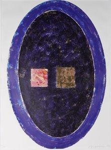 Jelis van Dolderen - zonder titel - 76 x 54 cm - Litho op papier achter passe-partout