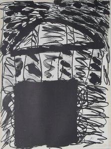 Cees Dolk - zonder titel -  77 x 57 cm - Zeefdruk op papier op karton geplakt