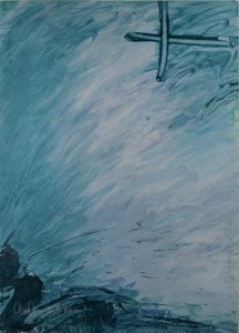 Frans van Eijk - zonder titel - 69 x 50 cm - Gouache op papier
