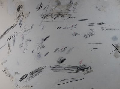 Rob Glaser - zonder titel 1 - 56 x 75 cm - Gemengde techniek (verf en potlood) op papier