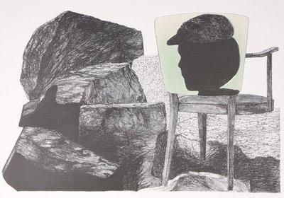 Gé van Kesteren - Verweer - 55 x 84 cm - Steendruk/Irisdruk op papier