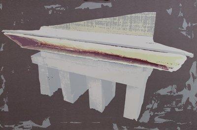 Shlomo Koren - zonder titel - 60 x 90 cm - Zeefdruk op papier