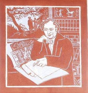 Ondine de Kroon - Johann Gottlob von Quandt - 60 x 56 cm - Linoleumsnede in reductietechniek