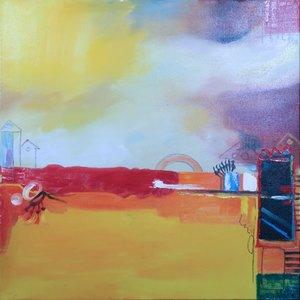 Han Teng - Eyes - 80 x 80 cm - Acryl op doek